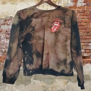 Custom grunge Distressed Rolling Stones sweater